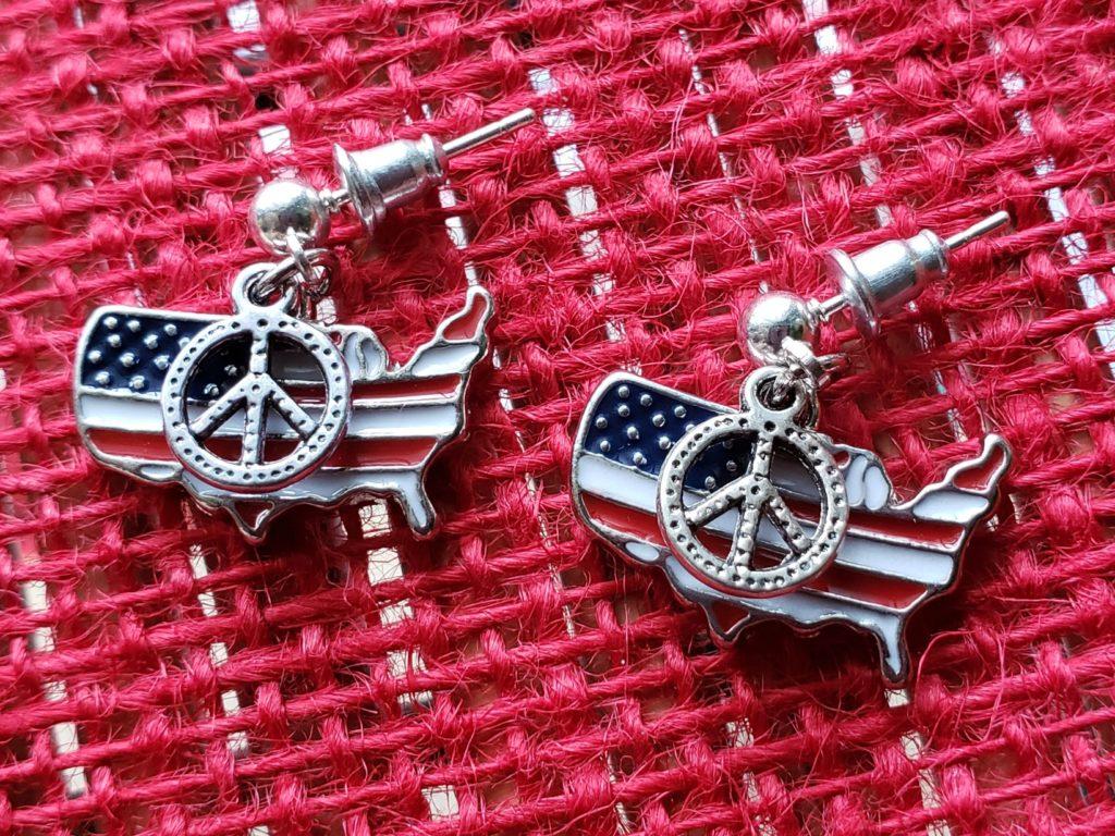 American peace earrings
