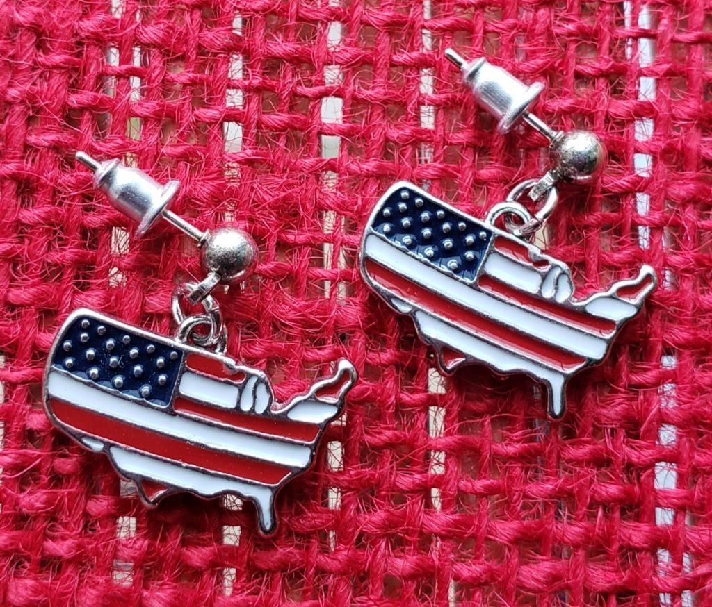 America earrings