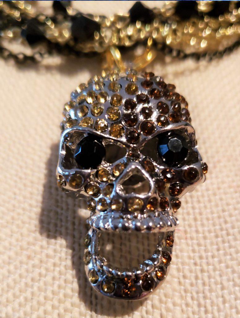 HN13 bejeweled skull